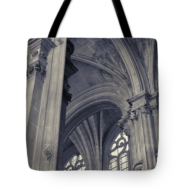 The Columns Of Saint-eustache, Paris, France. Tote Bag by Richard Goodrich