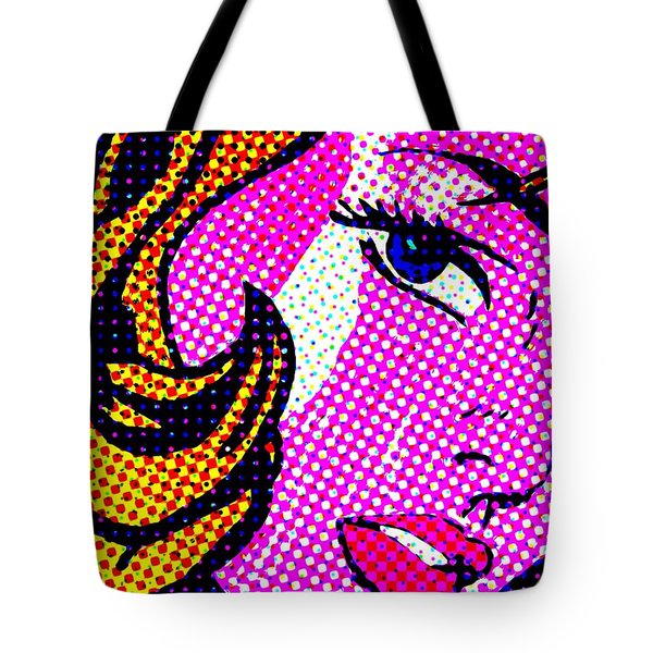 Batgirl Comic Girl Tote Bag by Robert Margetts