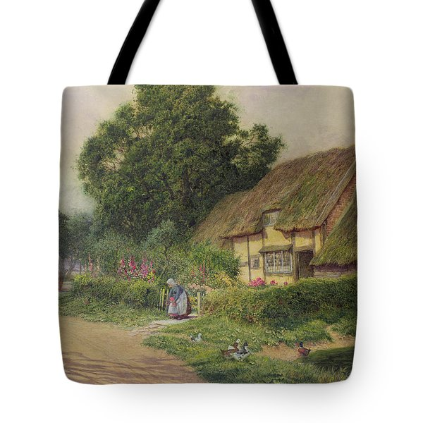 The Coming Of The Haycart  Tote Bag by Arthur Claude Strachan