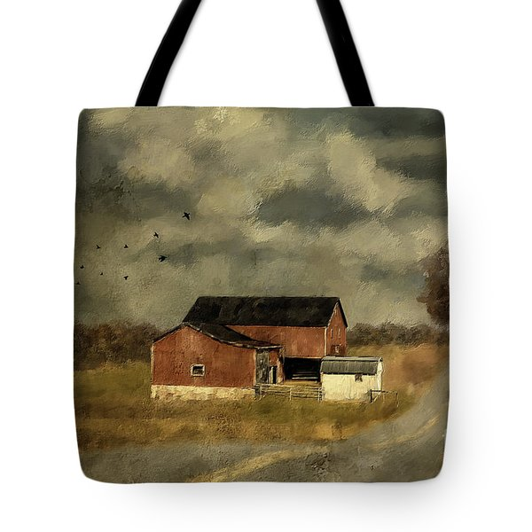 The Coming On Of Winter Tote Bag by Lois Bryan
