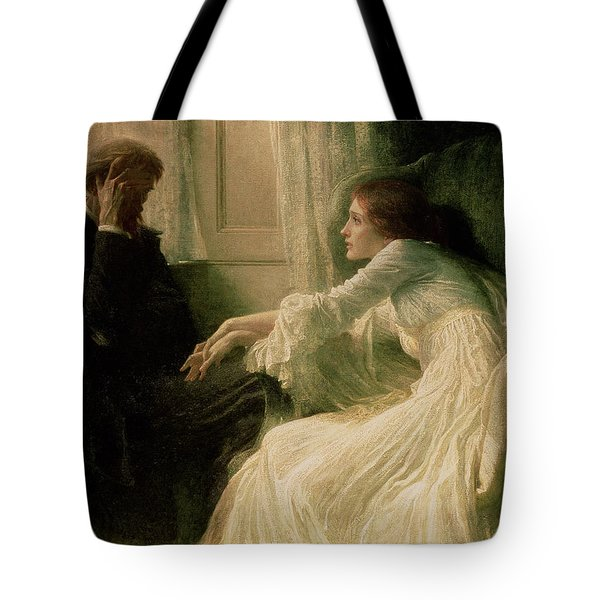 The Confession Tote Bag by Sir Frank Dicksee