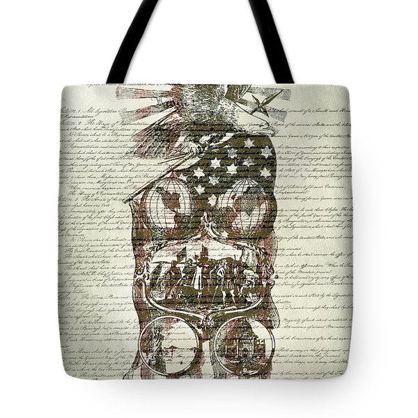 The Constitution Of The United States Of America Tote Bag by Dan Sproul
