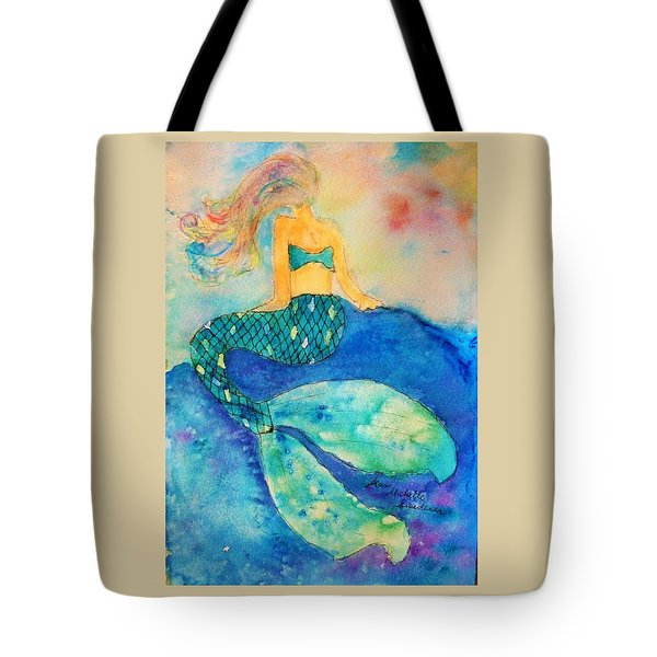 The Contemplation Of A Mermaid Tote Bag