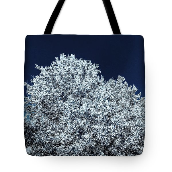 The Contrast Of Yellow And Blue In Bluescale Tote Bag