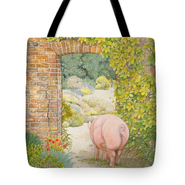 The Convent Garden Pig Tote Bag by Ditz