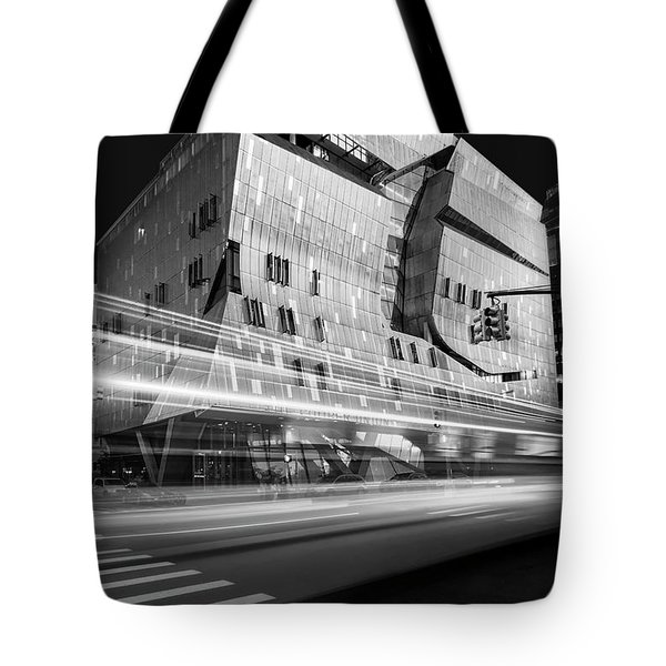 Tote Bag featuring the photograph The Cooper Union Nyc Bw by Susan Candelario