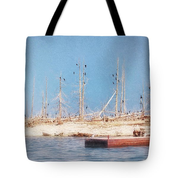 The Cormorants At Deaths Door Tote Bag
