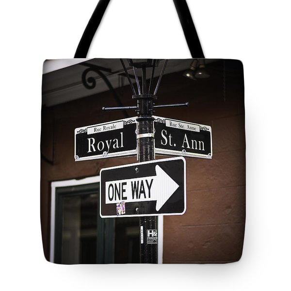 The Corner Of Royal And St. Ann, New Orleans, Louisiana Tote Bag