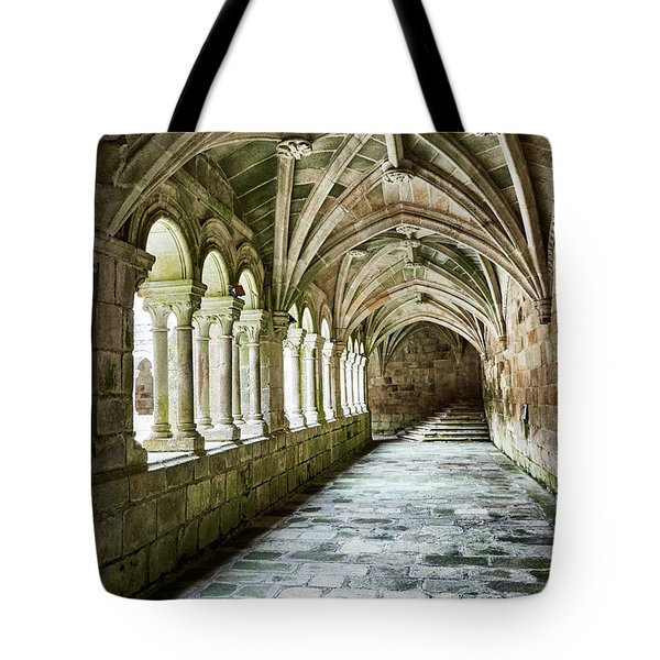 Tote Bag featuring the photograph The Corridors Of The Monastery by Eduardo Jose Accorinti