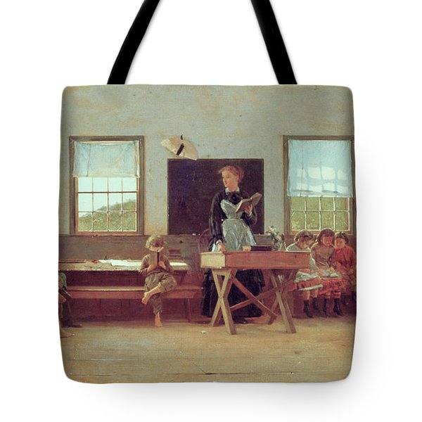 The Country School Tote Bag by Winslow Homer