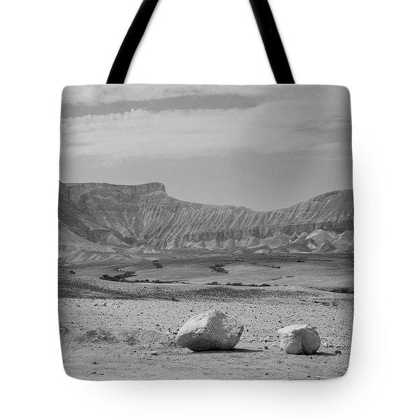 the couple of stones in the desert II Tote Bag by Yoel Koskas