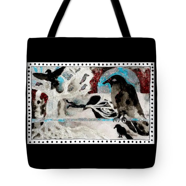 The Courage To Arive In Winter Tote Bag