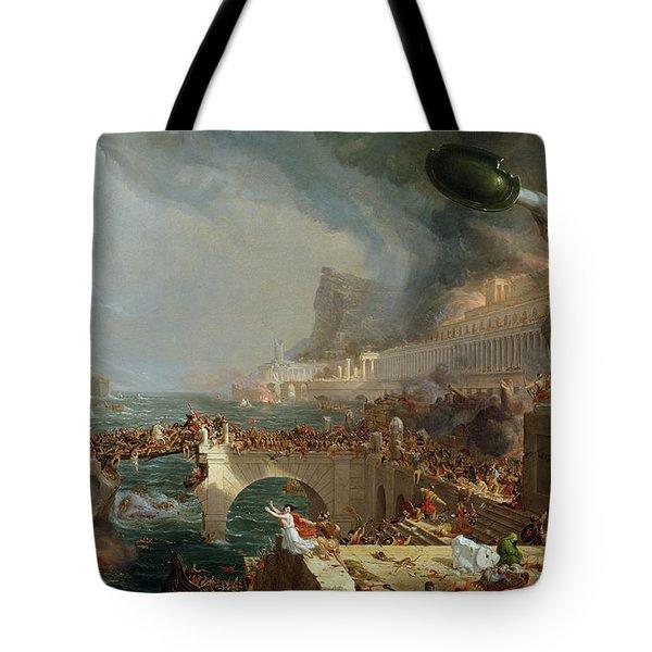 The Course Of Empire - Destruction Tote Bag