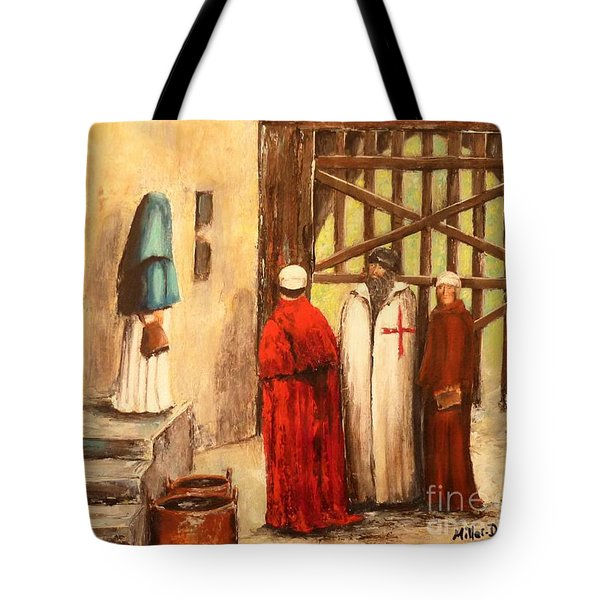 The Courtyard Conversation Tote Bag