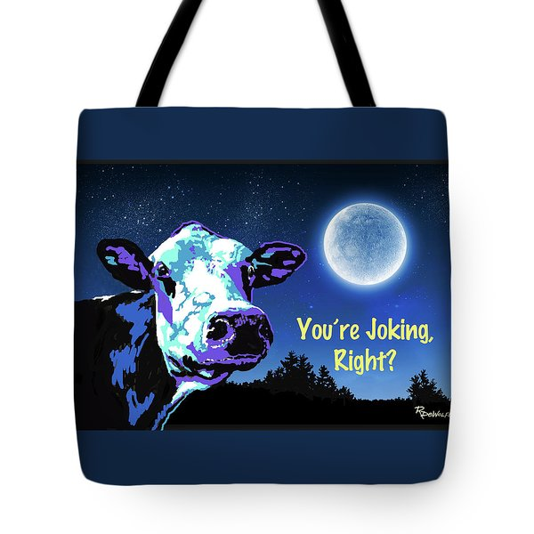 The Cow Jumps Over The Moon Tote Bag