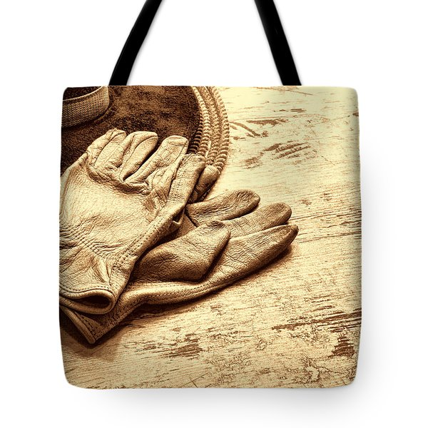 The Cowboy Gloves Tote Bag