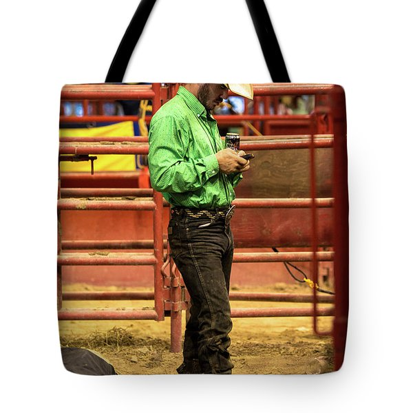 The American Cowboy Ready For The Rodeo Tote Bag