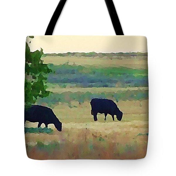 The Cows Next Door Tote Bag