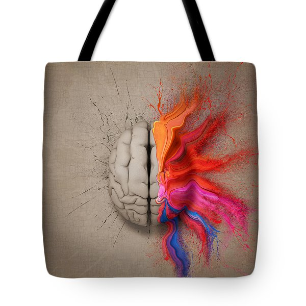 The Creative Brain Tote Bag by Johan Swanepoel