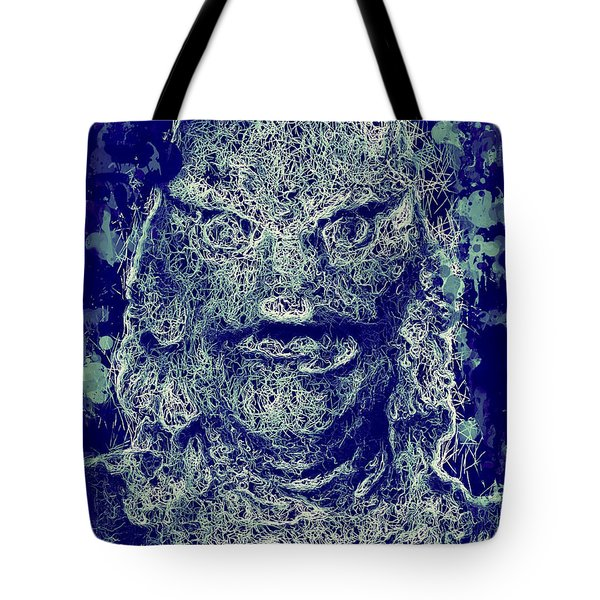 Tote Bag featuring the mixed media Creature From The Black Lagoon by Al Matra