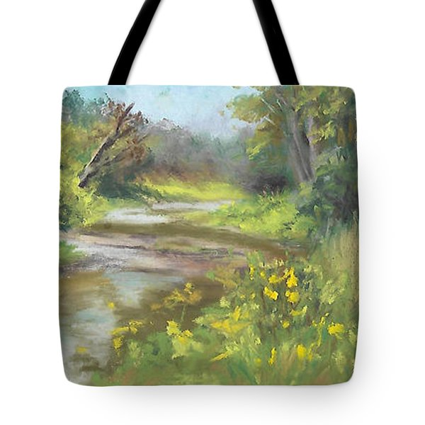 The Creek At 1302 Tote Bag by Terri  Meyer