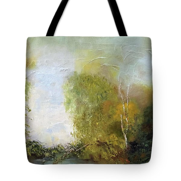 Tote Bag featuring the painting The Creek by Marlene Book