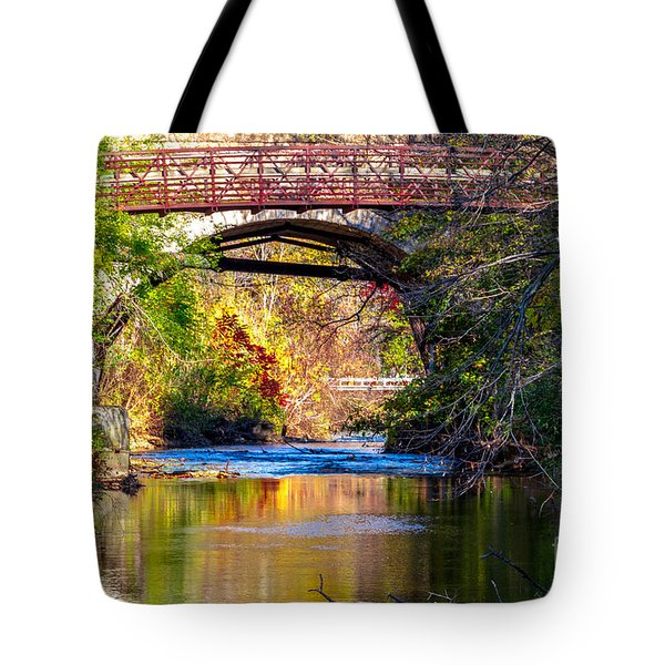 Tote Bag featuring the photograph The Creek by William Norton