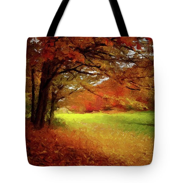 The Crimson Season P D P Tote Bag by David Dehner