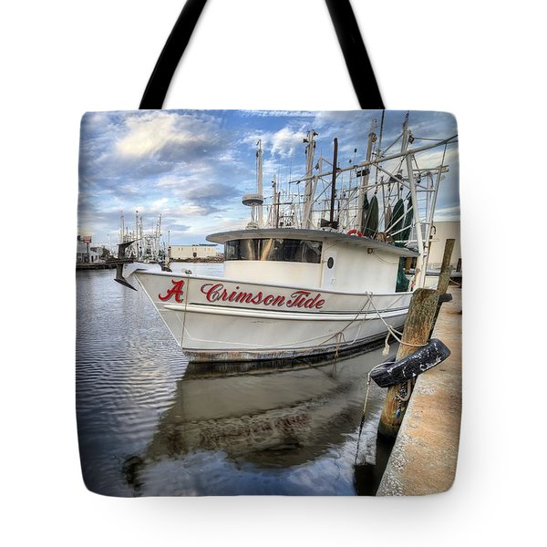 Tote Bag featuring the photograph The Crimson Tide by JC Findley
