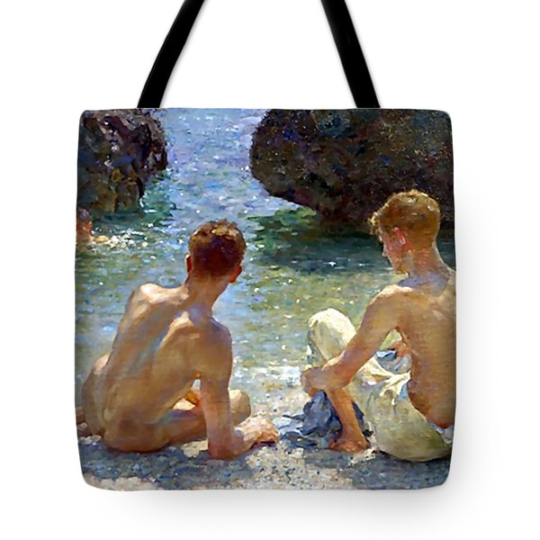 The Critics Tote Bag by Henry Scott Tuke
