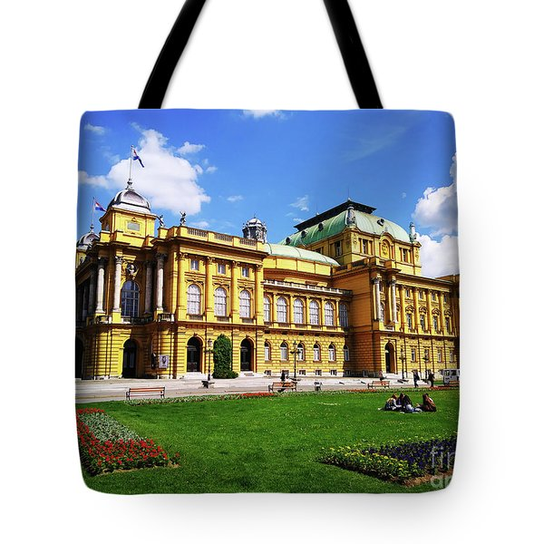 The Croatian National Theater In Zagreb, Croatia Tote Bag by Jasna Dragun