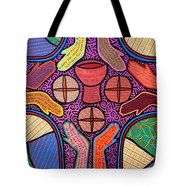 The Cross Beckons Tote Bag