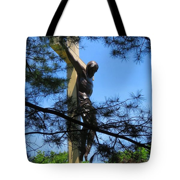 The Cross In The Woods Tote Bag