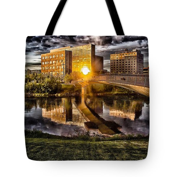 Tote Bag featuring the photograph The Cross by Michael Rogers