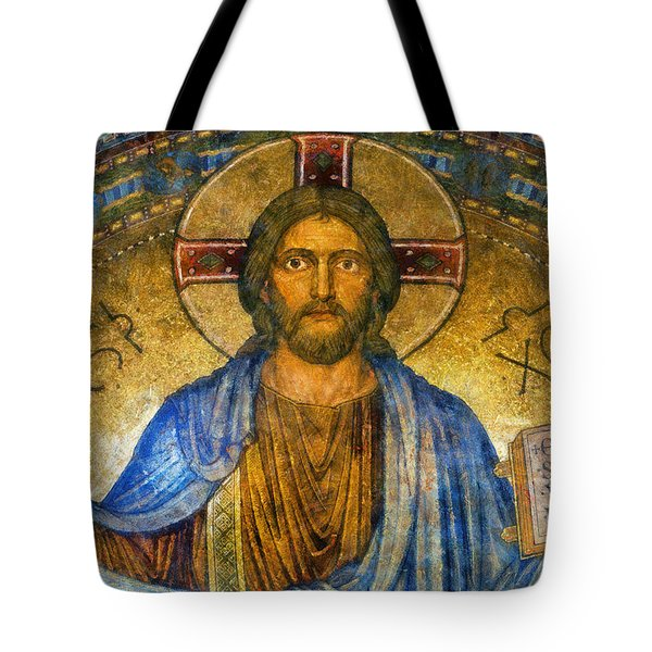 Tote Bag featuring the digital art The Cross Of Christ by Ian Mitchell