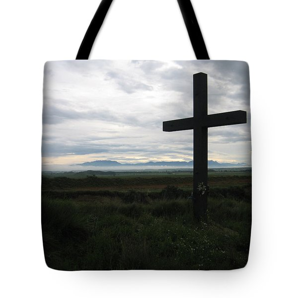 The Cross Tote Bag by Oliver Johnston