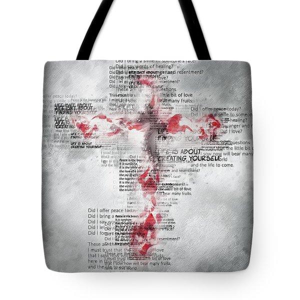 The Cross Speaks Tote Bag