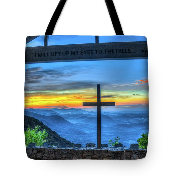 The Cross Sunrise At Pretty Place Chapel Tote Bag