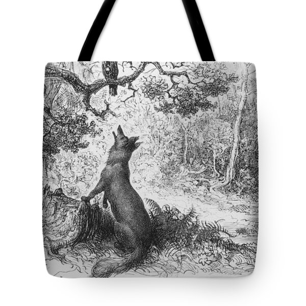 The Crow And The Fox Tote Bag