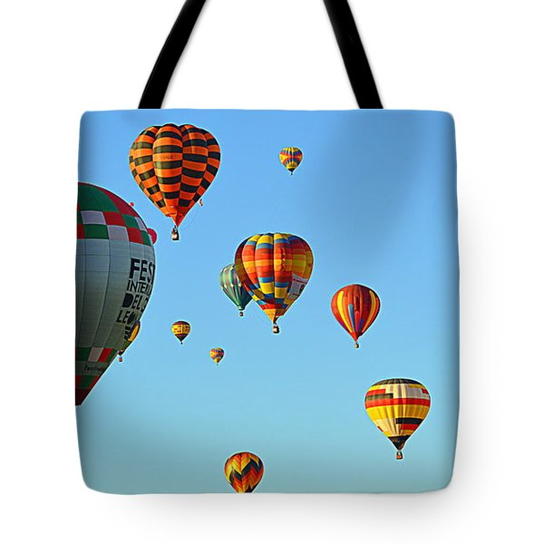 Tote Bag featuring the photograph The Crowded Skies by AJ Schibig