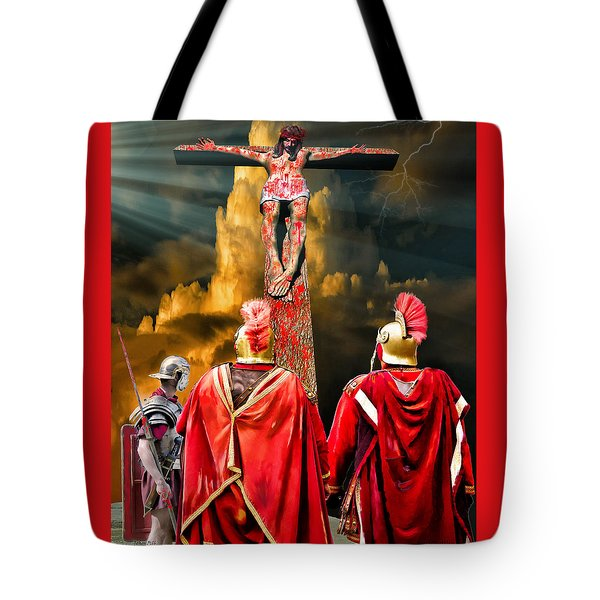 The Crucifixion Tote Bag by Mark Allen