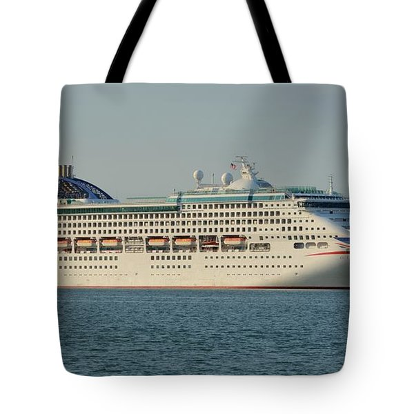 Tote Bag featuring the photograph The Cruise Ship Oceana by Bradford Martin