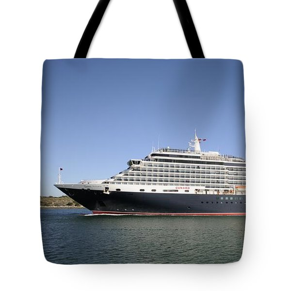 Tote Bag featuring the photograph The Cruise Ship Queen Victoria by Bradford Martin