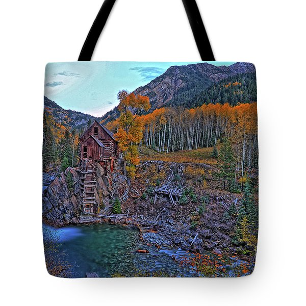 Tote Bag featuring the photograph The Crystal Mill by Scott Mahon