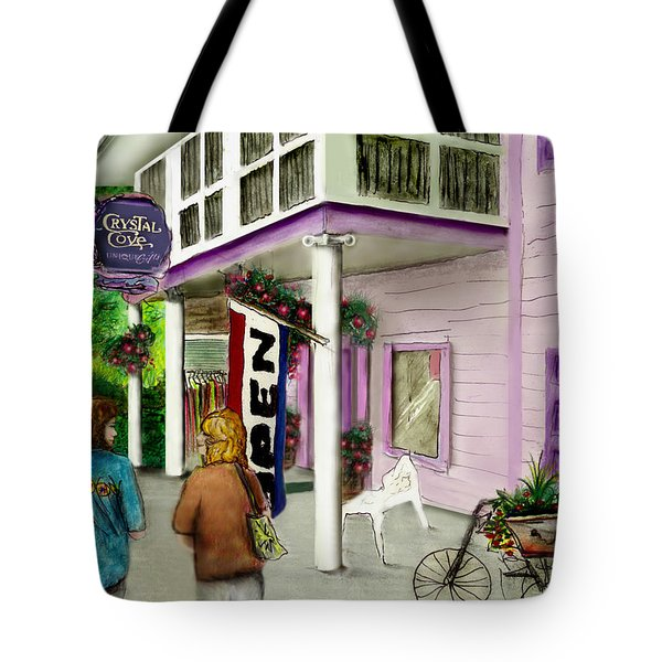 Tote Bag featuring the drawing The Crystal Cove At Lilydale Ny by Albert Puskaric