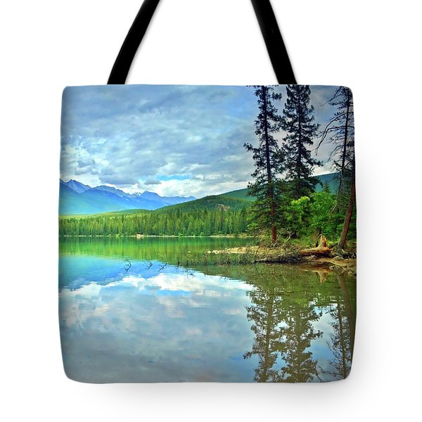 Tote Bag featuring the photograph The Crystal Waters Of Lake Annette by Tara Turner