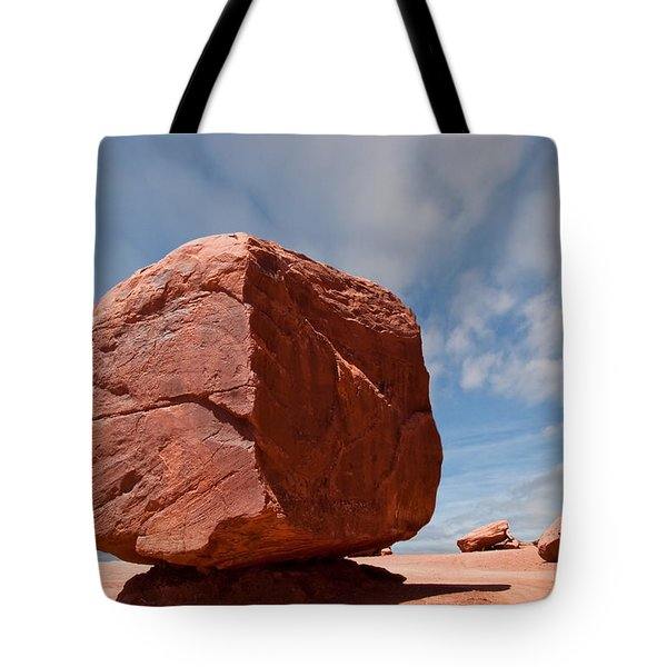 The Cube At Monument Valley Tote Bag