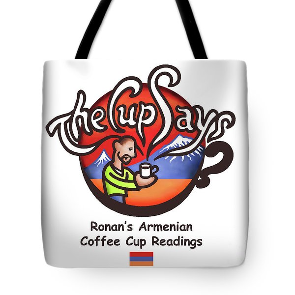 Tote Bag featuring the painting The Cup Says Logo by Renee Womack