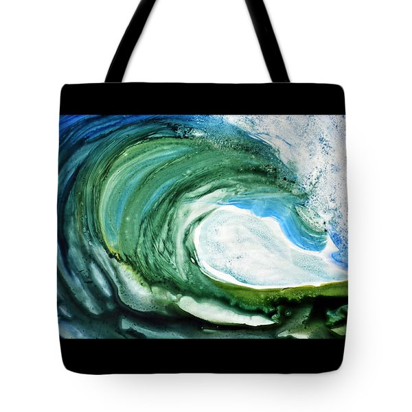 Tote Bag featuring the painting The Curl by Joan Hartenstein