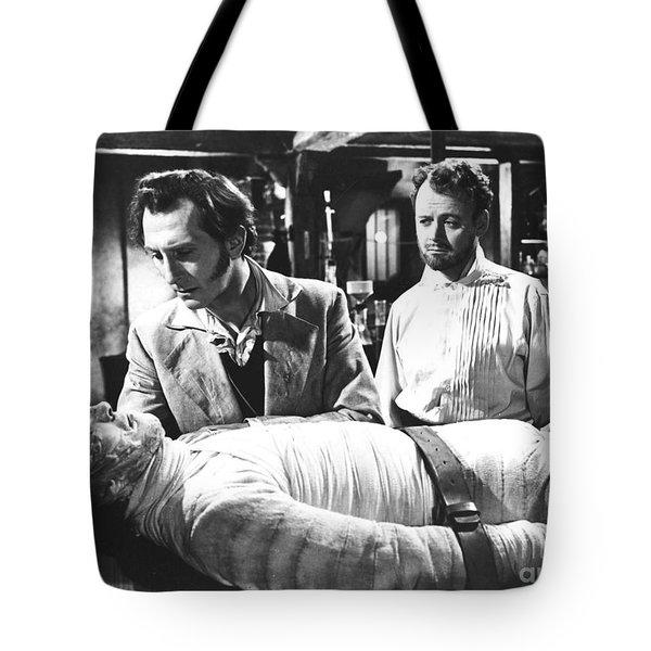 The Curse Of Frankenstein 1957 Baron Victor Frankenstein Tote Bag
